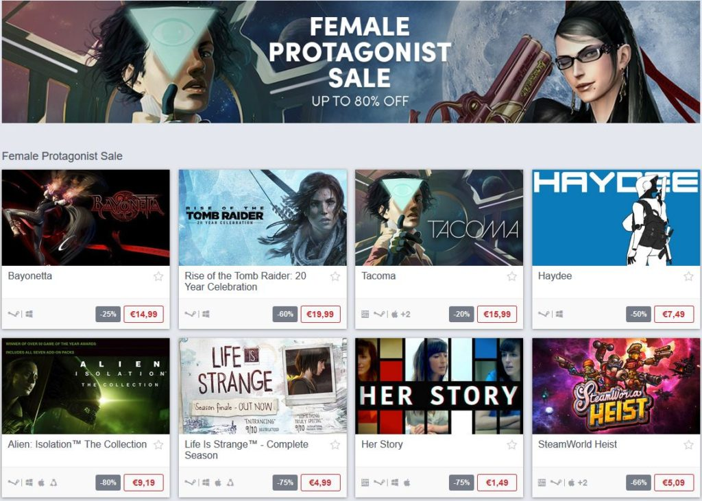 Female Protagonists Sale