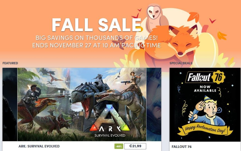 Humble Fall Sale