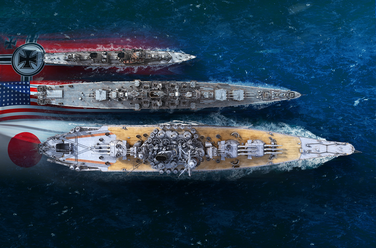 Izgradite svoju flotu od 11 različitih pomorskih sila.